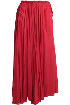 ANTIK BATIK Bowly pleated voile maxi skirt