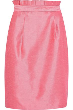 ALICE + OLIVIA Toni pleated shantung skirt