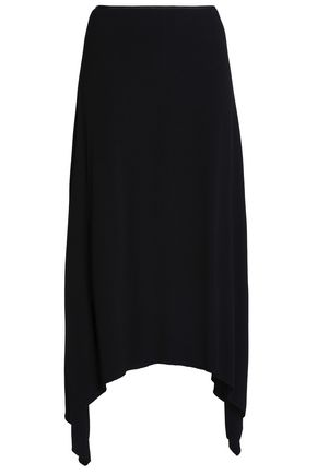 HOUSE OF DAGMAR Asymmetric crepe midi skirt
