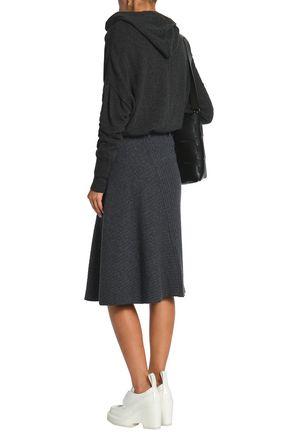 PACO RABANNE Mélange ribbed-knit skirt