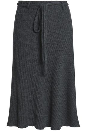 PACO RABANNE Mélange ribbed-knit skirt