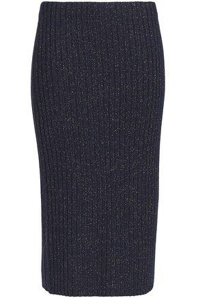 RAG & BONE Jubilee metallic ribbed merino wool-blend skirt