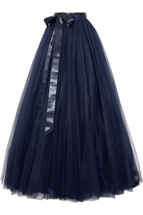 JENNY PACKHAM Pleated tulle maxi skirt