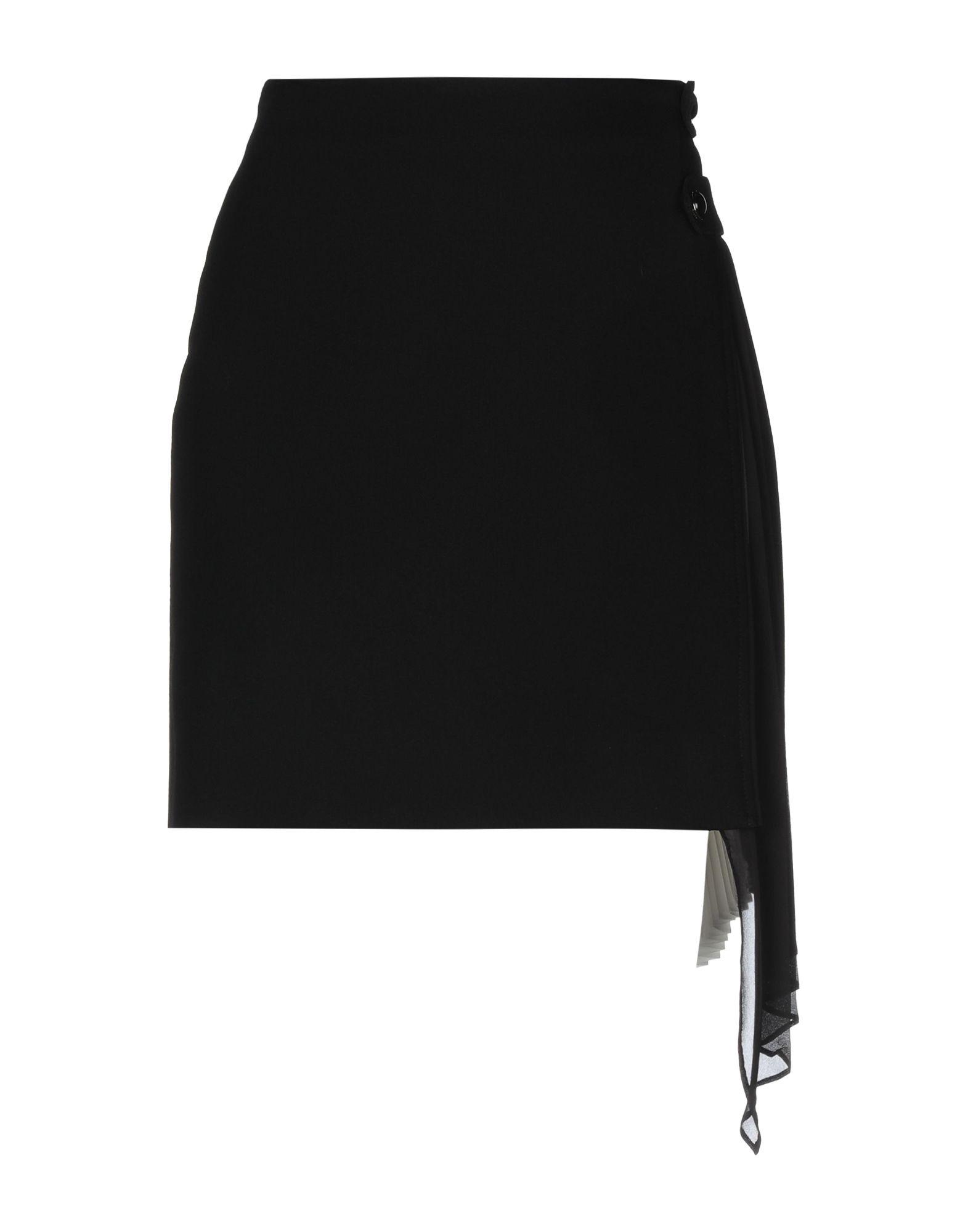 《送料無料》GIVENCHY レディース ひざ丈スカート ブラック 34 ウール 100% / シルク / ポリエステル