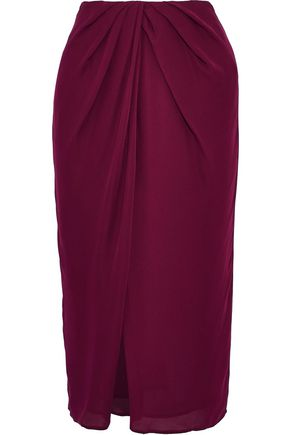 NICHOLAS Draped silk skirt