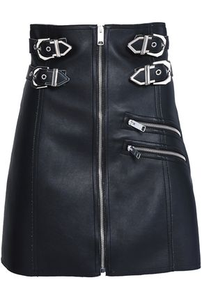 VERSUS VERSACE Buckled faux leather mini skirt