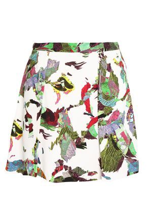 VERSUS VERSACE Embellished printed crepe mini skirt