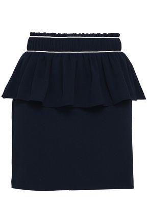 GANNI Layered crepe mini skirt