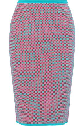 DIANE VON FURSTENBERG Jacquard-knit pencil skirt
