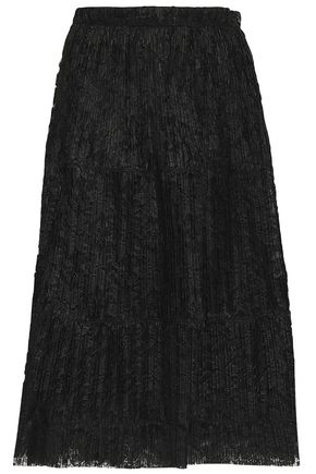 SEE BY CHLOÉ Pleated lace midi skirt