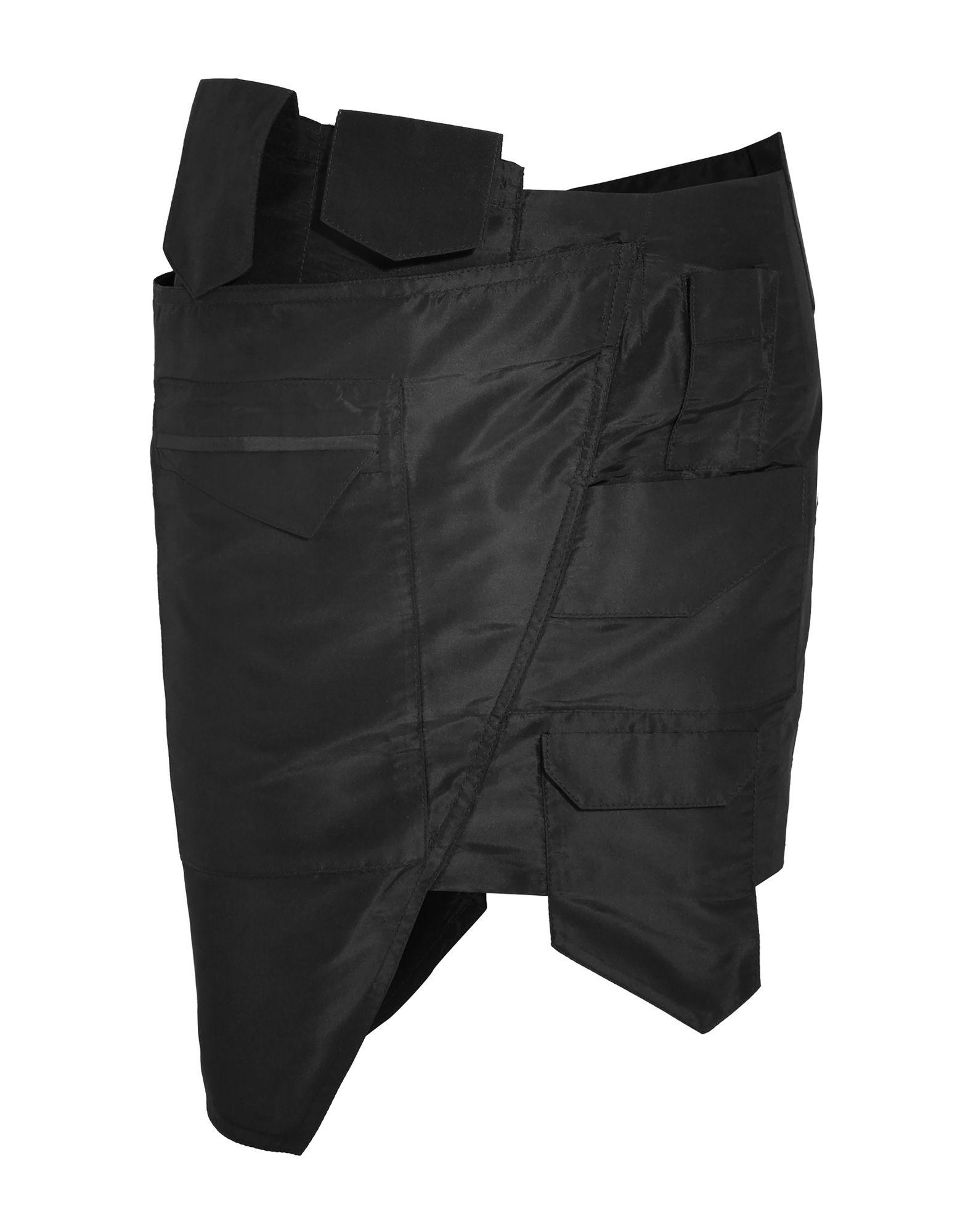 《セール開催中》RONALD VAN DER KEMP レディース ひざ丈スカート ブラック 34 シルク 100%
