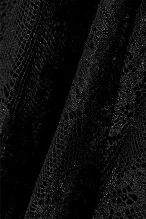 CHRISTOPHER KANE Appliquéd Chantilly lace midi skirt