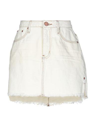 Купить Джинсовая юбка цвет слоновая кость