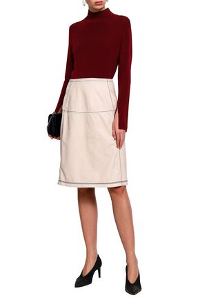PIAZZA SEMPIONE Leather skirt