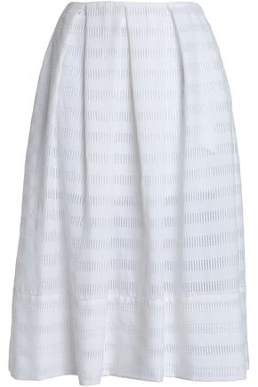 PIAZZA SEMPIONE Laser-cut cotton-blend jacquard skirt