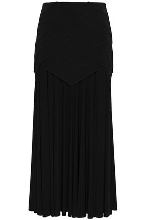 ANTONIO BERARDI Paneled stretch-jersey midi skirt