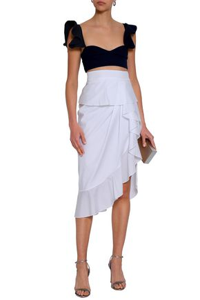 MICHAEL LO SORDO Ruffled cotton-poplin skirt