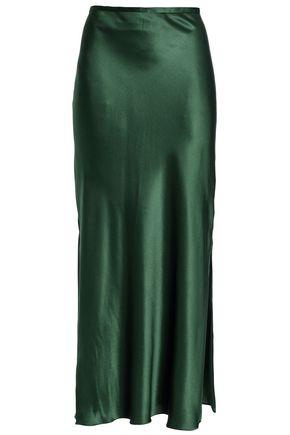 MICHAEL LO SORDO Silk-satin midi skirt