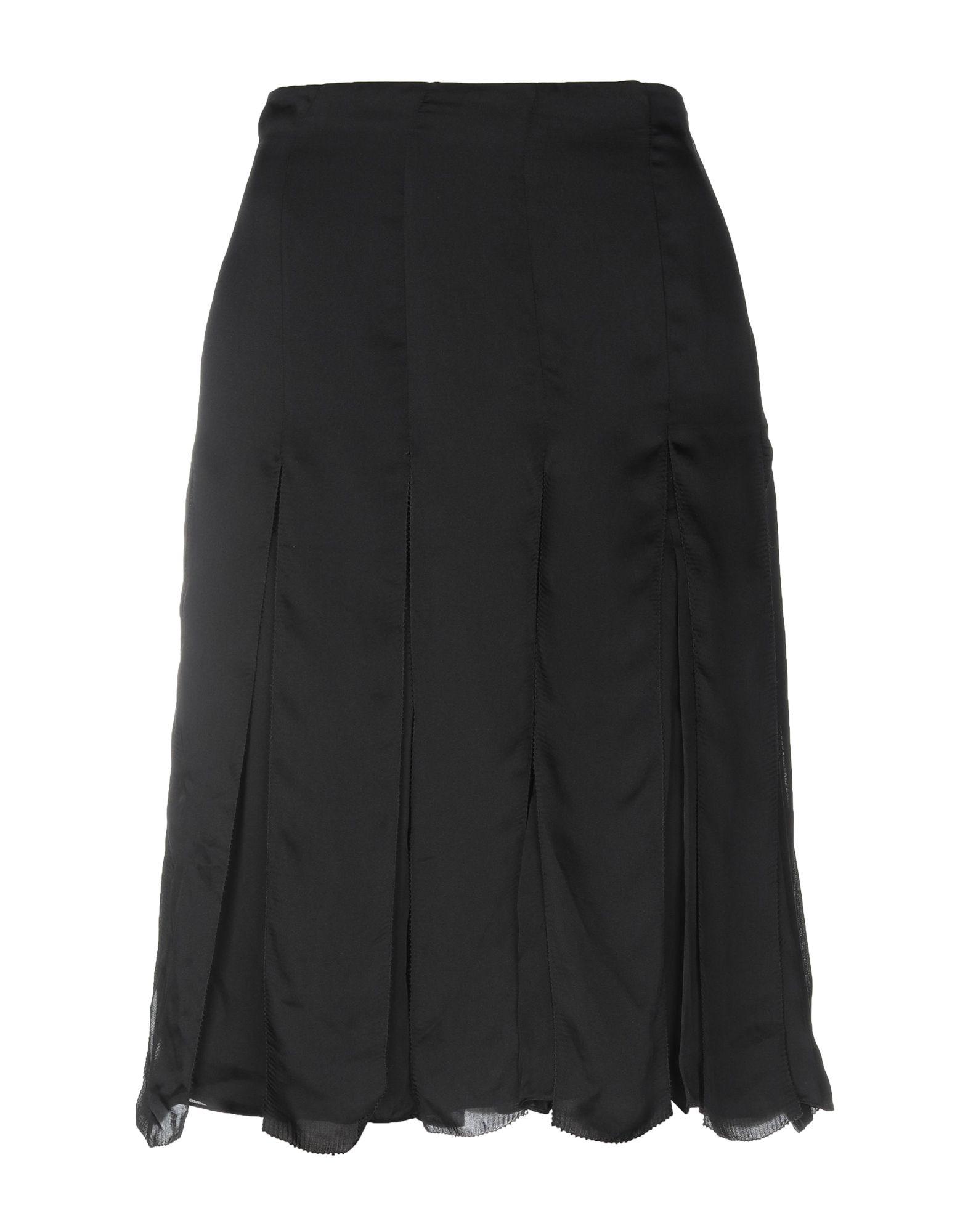 《セール開催中》RALPH LAUREN BLACK LABEL レディース ひざ丈スカート ブラック 6 シルク 100%