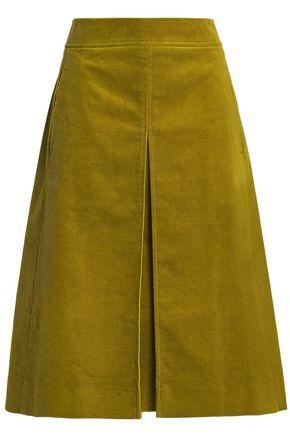 TORY BURCH Cotton-blend corduroy skirt