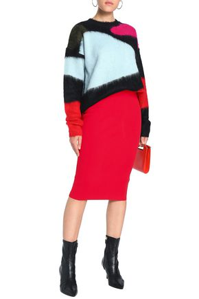 DIANE VON FURSTENBERG Stretch-knit pencil skirt