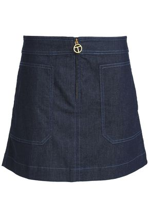 TORY BURCH Denim mini skirt