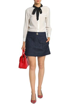 TORY BURCH Denim mini skirt
