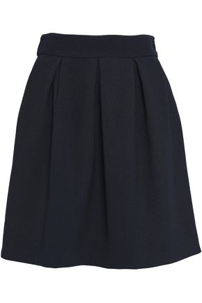 BA&SH Pleated jacquard mini skirt