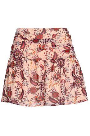 BA&SH Floral-print crepe mini skirt
