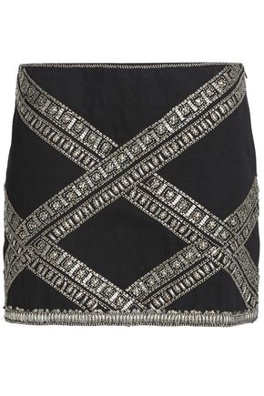 BA&SH Embellished cotton mini skirt