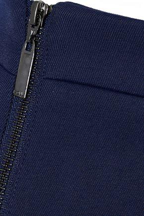 RAOUL Zip-detailed wool pencil skirt