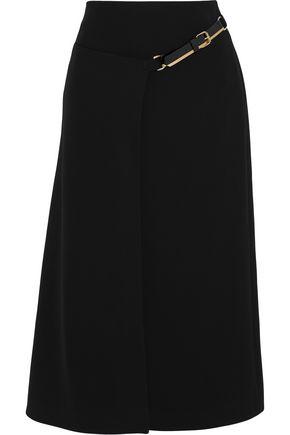 LANVIN Belted crepe midi skirt