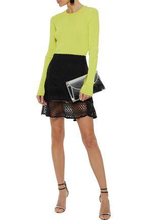 RAOUL Lace mini skirt