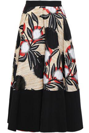 ROKSANDA Floral-print silk-blend jacquard midi skirt