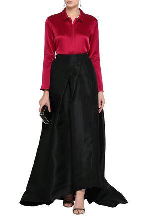 MONIQUE LHUILLIER Silk-organza maxi skirt