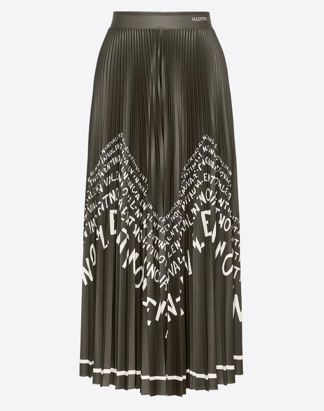 Valentino Chevron Jersey Skirt