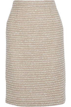 OSCAR DE LA RENTA スパンコール付き ウール混ブークレ ペンシルスカート