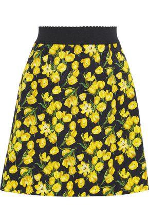 DOLCE & GABBANA Floral-print jacquard mini skirt