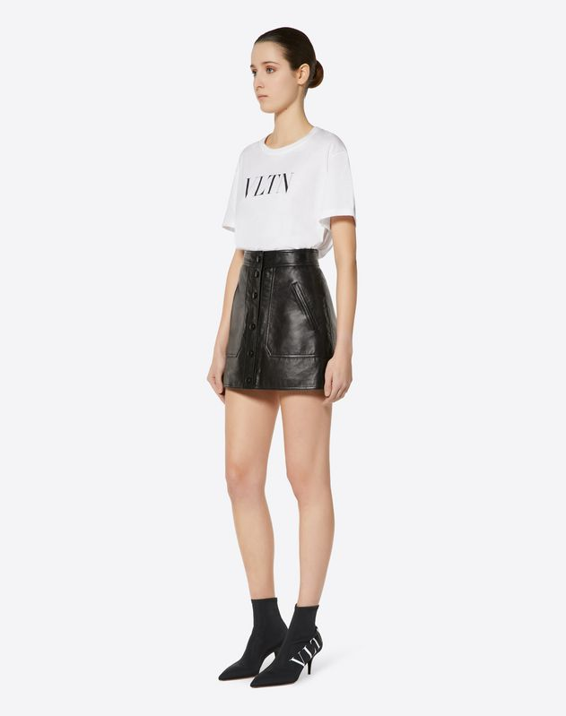 VLTN Leather Mini Skirt