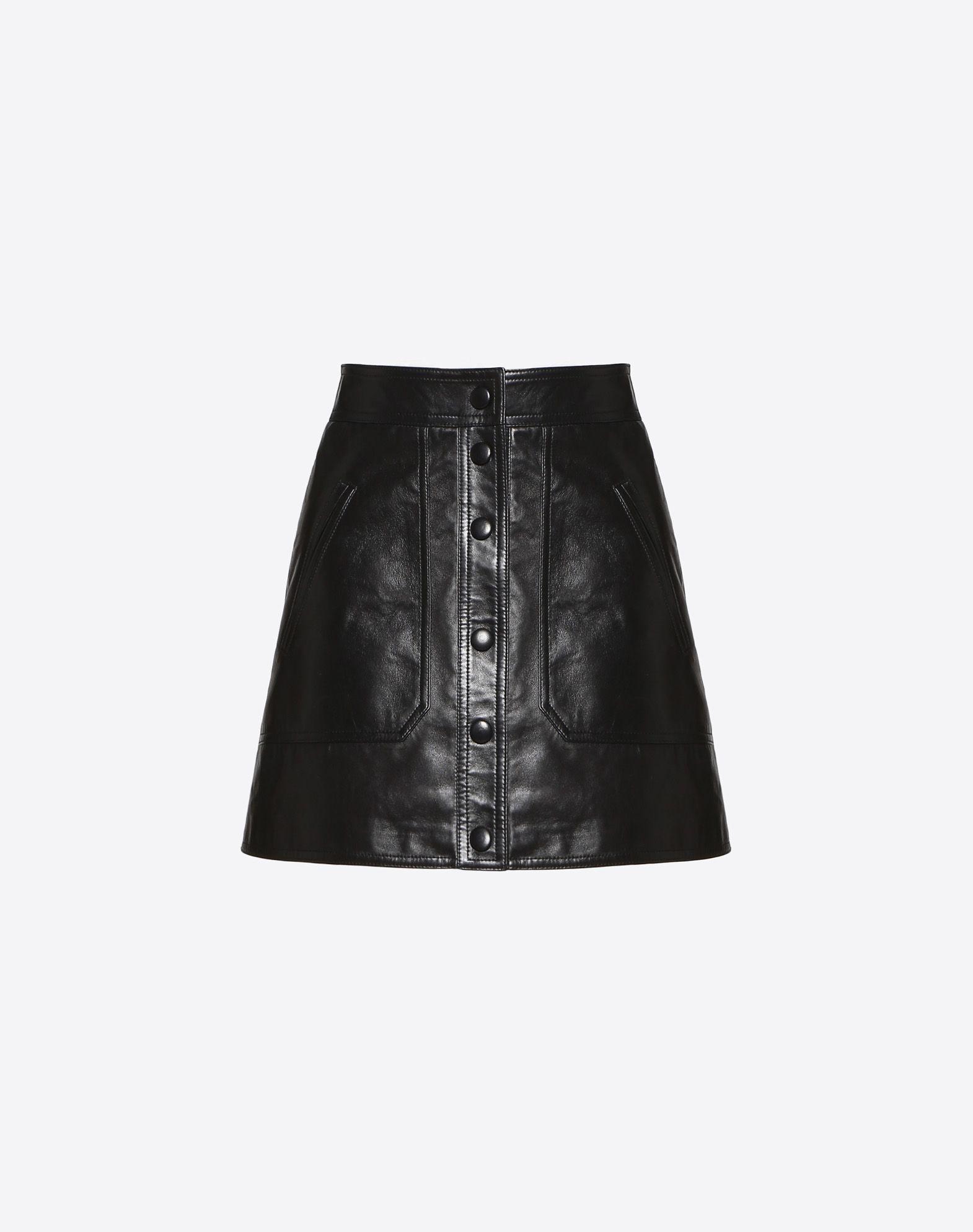 VLTN Leather Mini Skirt