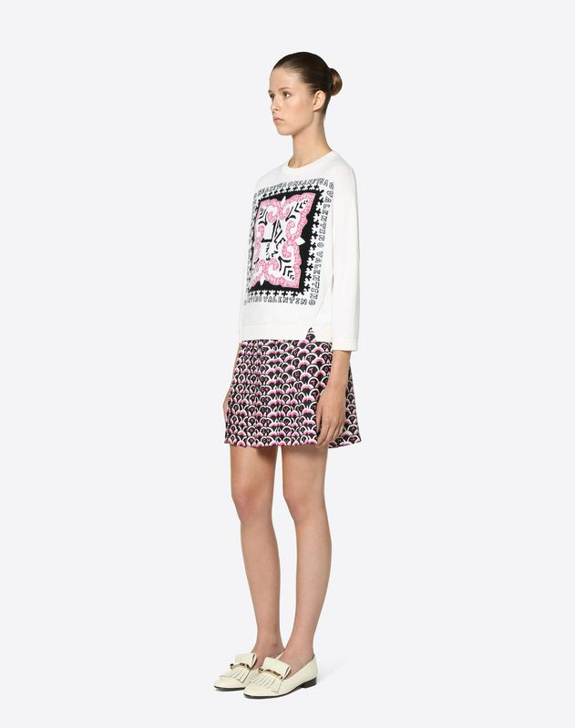 Valentino Scale Twill Mini Skirt