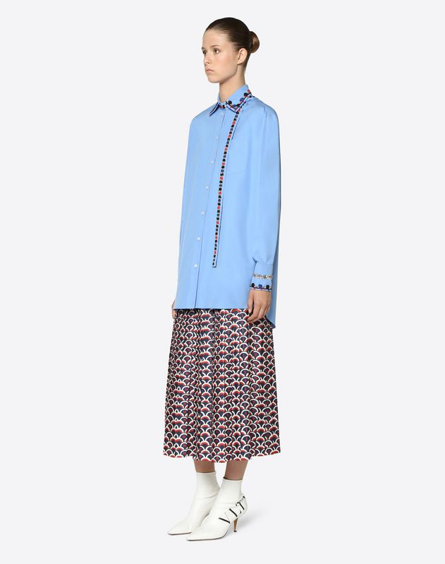 Valentino Scale Twill Skirt