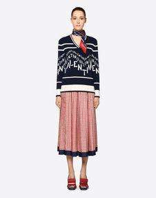 Optical Valentino Crêpe Couture Skirt