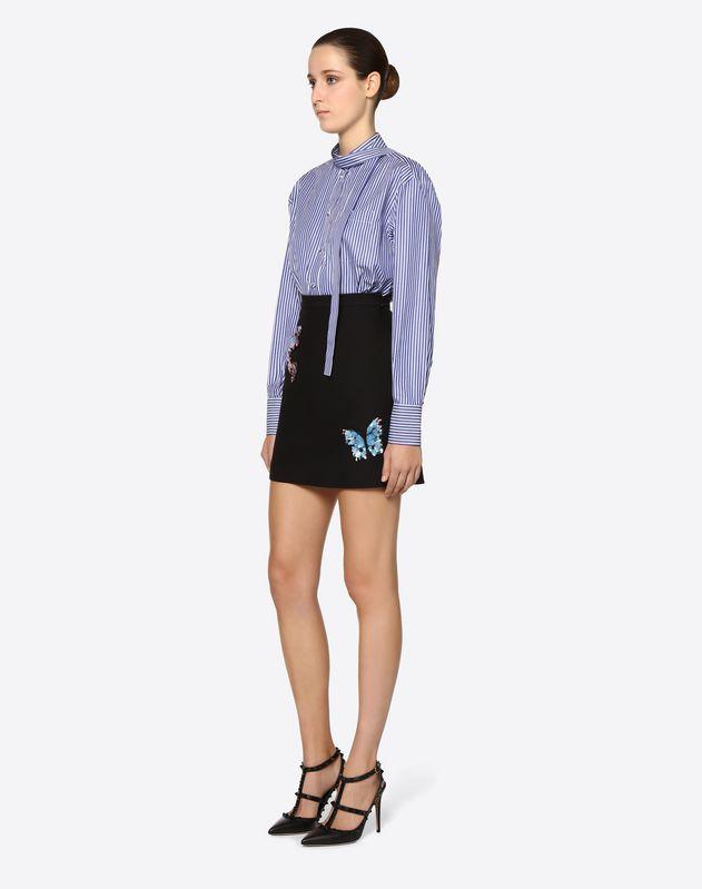 Falda de Crêpe Couture con bordado Butterflies
