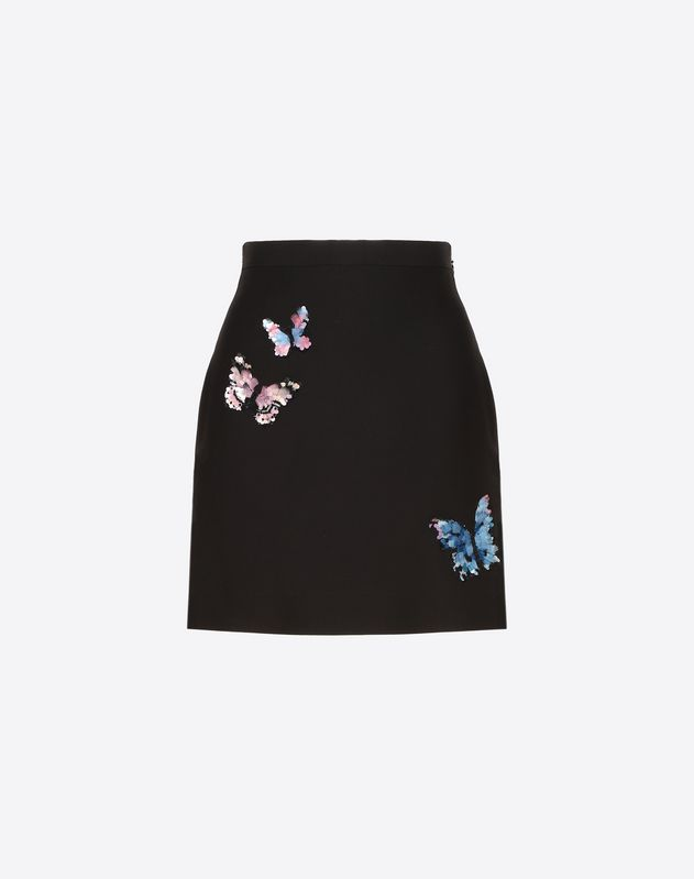 af352235e Embroidered Butterflies Crêpe Couture Skirt ...