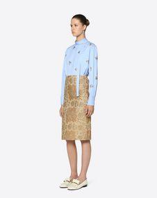 Tartan Flower Brocade Skirt