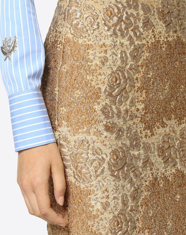 Юбка из ткани Broccato Flower Tartan