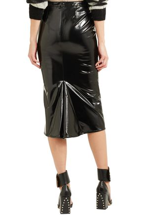 McQ Alexander McQueen Coated woven pencil skirt