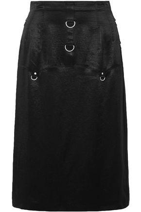 McQ Alexander McQueen Embellished satin-crepe skirt