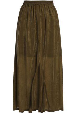 McQ Alexander McQueen Crinkled-sateen midi skirt